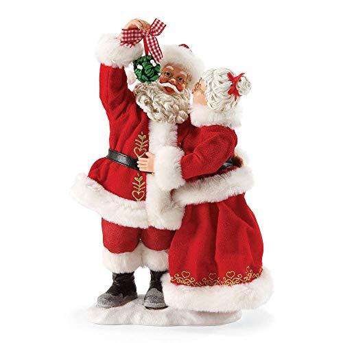 """Department 56 Possible Dreams Santa Claus """"Mistletoe Kisses"""" Clothtique Christmas Figurine"""