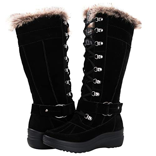 GLOBALWIN Women's 1827 Black Fashion Snow Boots 7M