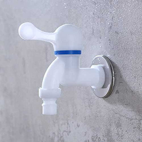 Kraan 1/2 of 3/4 Inch PP Bibcocks Plastic Schroefdraad Interface Snel Op Kraan Wasmachine Tap Thuis Vervanging