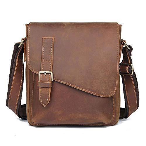 Crazy Horse Leather Retro Men'S Bag Business Men'S Shoulder Messenger Bag Tablet Shoulder Bag