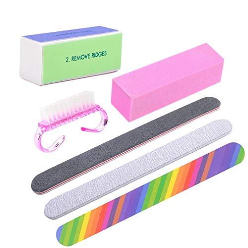 Rosalind Nagelreinigungs-Set für Maniküre mit Sandpinsel, Nagelkunst-Werkzeug, Gel-Nagellack-Zubehör, 6 Stück