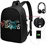 Funny State of Texas Laptop Backpack 17 inch with USB Charging Port, for Women Men Fashion School Bag