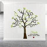 mlpnko Autocollant Décoration Murale,Arbre Photo de Famille, Sticker Mural en Vinyle Grand arbre-216x209cm