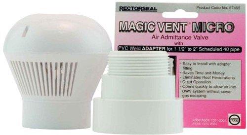 Rectorseal 97405 Magic Vent Micro com adaptador Pvc