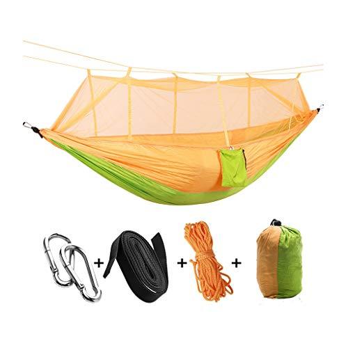 Columpio plegable Portátil plegable doble que acampa Hamaca Mosquito árbol cama de la red de viajes Carpa Swing, Swing de Carpa Ideal for acampar, con mochila, kayak y viajes Oscilación ajustable