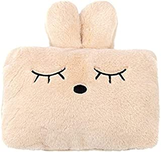 Hot Water Bottle Electric Rechargeable and Portable Hand Warmer with Cute Plush Bunny Cover Safe Explosion Proof Hot W. De...