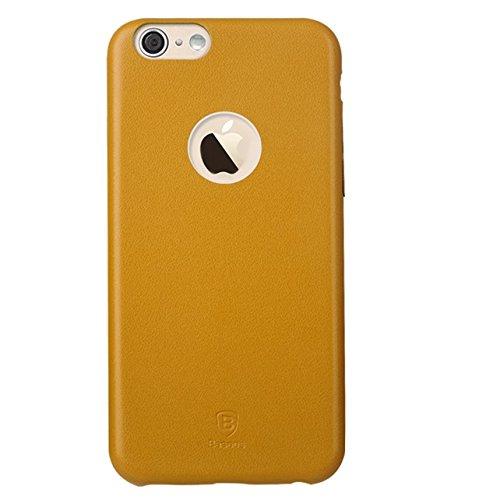 Color sólido BASEUSTM 0,85 mm delgada caso PC y PU cuero Carcasa para iPhone 6 Plus (colores surtidos)