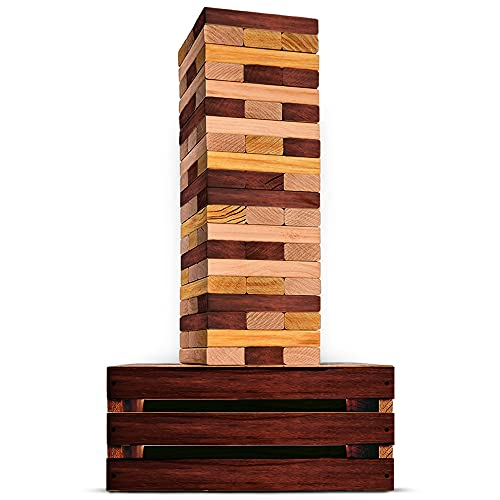 SWOOC Games - Reclaimed Giant Tower Game | 60 Large Blocks | Storage Crate / Outdoor Game Table |...