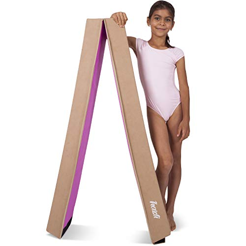 Hazli Folding Gymnastics Balance Beam for Home Practice - Kids 8FT Balance Beams for Gymnastic