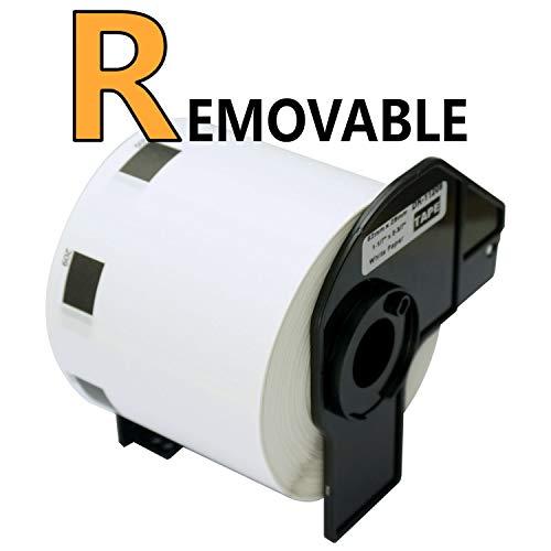 BETCKEY Compatible Etiqueta de Código de Barras Extraíble, Reemplazo para hermano DK-11209, 62mm x 29mm, para Impresoras de Etiquetas Brother QL, [1 Rollo/800 Labels]
