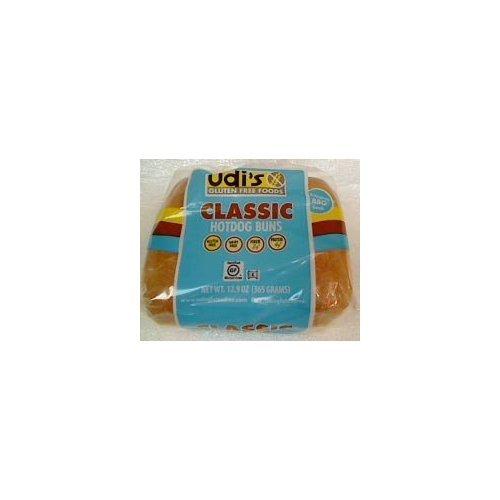 Udi's Gluten Free Classic Hotdog Buns 12.9 oz. - case of 6 (6 buns per pack)