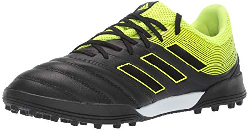 adidas Men's Copa 19.3 Turf, Black/Solar Yellow/Black, 13 M US