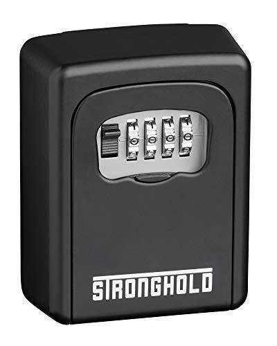 Stronghold Schlüsseltresor, Schlüsselsafe mit Zahlencode, Schlüsselkasten wetterfest für außen, Schlüsselbox zur Wandmontage, Safe mit 4-stelliges Zahlenschloss