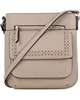 EMPERIA Denim Small Whipstitch Detail Faux Leather Crossbody Bags Shoulder Bag Purse Handbags for Women Sand