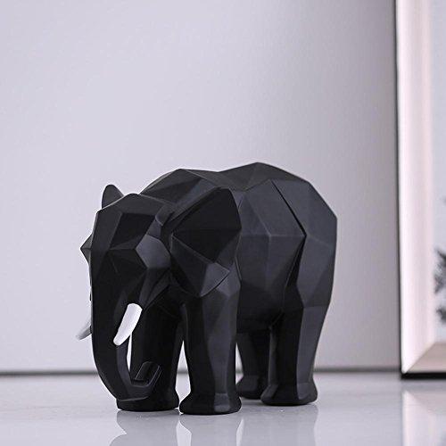 Nouveau chinois Résine Origami Artisanat Noir Eléphant Décoration Artisanat Cadeau