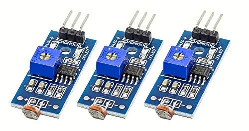 MissBirdler 3Stück 3pin Licht Sensor Fotosensor Lichtsensor LM393 für Arduino