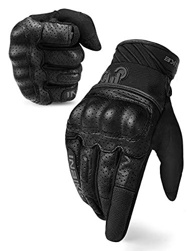 INBIKE Guantes con La Función De Pantalla Táctil para Moto, Guantes Moto Verano Transpirable para Hombre(IM801-Black,XL)
