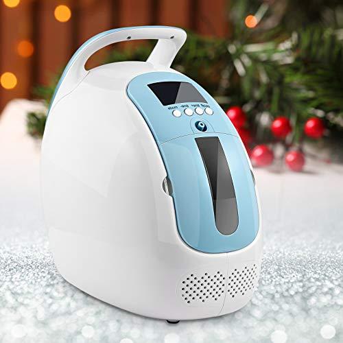 4YANG Generador de Concentrador de Oxígeno Portatil 90%(±3) Dispositivo de oxígeno de alta pureza 1-5L/min Máquina de oxígeno ajustable para uso doméstico y de viaje (220V)