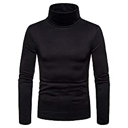 FidgetGear Men Thermal High Neck Sweaters Stretch Turtleneck Shirt Tops