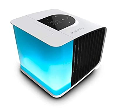 evaSMART EV-3000 Portable Air Conditioning Unit - Mini Air Humidifier With Remote Control & Fan Speed Controller - Personal Space Air Cooler & Freshener For Home & Office