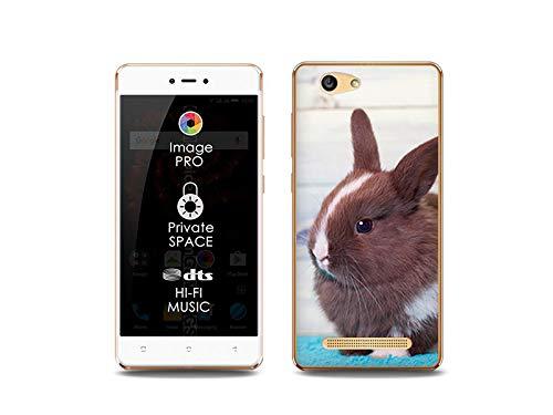 etuo Handyhülle für Allview X3 Soul Lite - Hülle, Silikon, Gummi Schutzhülle Foto Case - Braunes Kaninchen