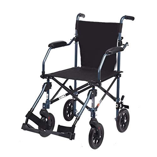 Gcxzb Caminar Plegable Aid, sillas de Ruedas, de Aluminio 4-Rueda rodante Walker con Asiento y Respaldo, Barandillas y Desmontable Pedales, Freno y 8 Pulgadas Ruedas
