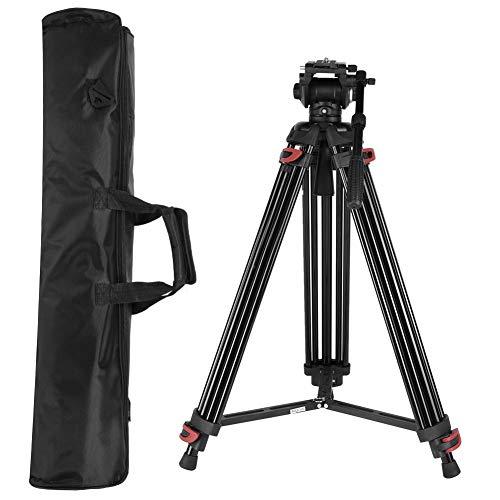 Ejoyous Kamera Video Stativ, Professionelle Aluminium Höhenverstellbar Schwerlast Videokamera Stativ Mit verstellbarem Griff und Verschleißfeste Gummibasis 360-Grad-Panoramaaufnahmen