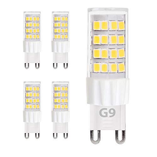 5x G9 LED Leuchtmittel 5W 230V neutralweiß 4000K Lampen Stecklampe Halogen Ersatz SMD 450 Lumen 5er Pack DE-Händler