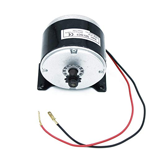 ColouredPeas Electric Motor Brushed Chain Motor (24v 250w 2750RPM) Fit For Scooters Modified Bicycles Go-kart Mini Bike or DIY Experiment