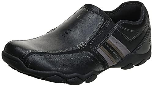 Skechers Diamondback Levon - mocasines para hombre, Negro - Black (Black Bbk), 47.5
