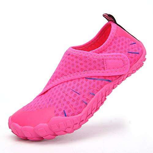 ZLDGYG Niños Playa Verano Zapatillas de balanceo al Aire Libre Natación Surf Slippers Squa de Agua de Secado rápido Shoes para niños Niñas Niñas Suaves Zapatos de Agua Plegables (Size : 38)