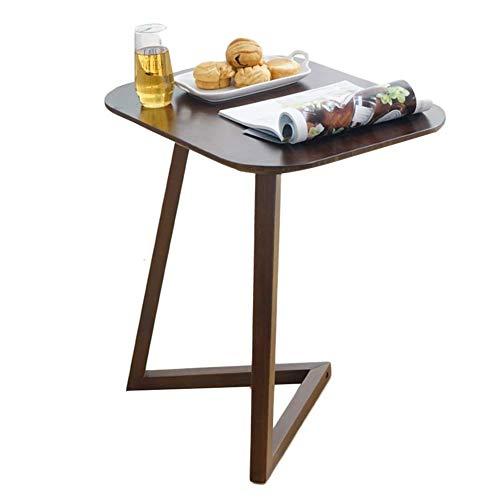 Alvnd Tavolino da Salotto in bambù Tavolino for Laptop, Tavolo for Snack TV, Scrittoio da Lettura for Camera da Letto for spazi limitati for la casa, a Forma di L (Color : Brown)
