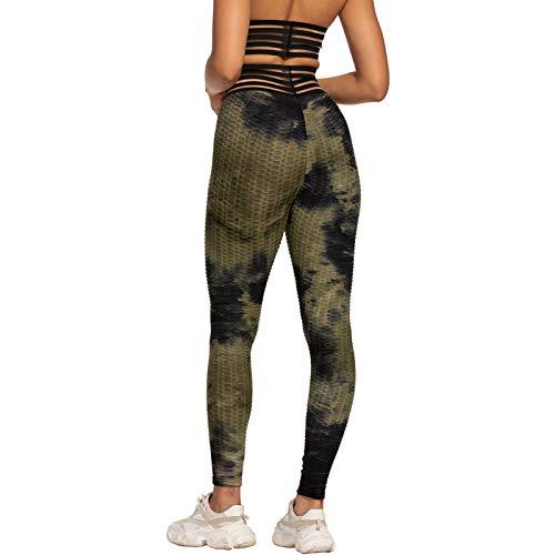 Hhwei Leggings de yoga de cintura alta con bolsillo, para mujer, pantalones de yoga de longitud completa para gimnasio, C, XL