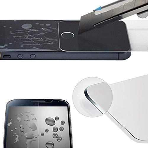 Eximmobile - 2 protectores de pantalla de cristal templado compatibles con Huawei Ascend G730, autoadhesivos, dureza 9H, antiarañazos, lámina de cristal