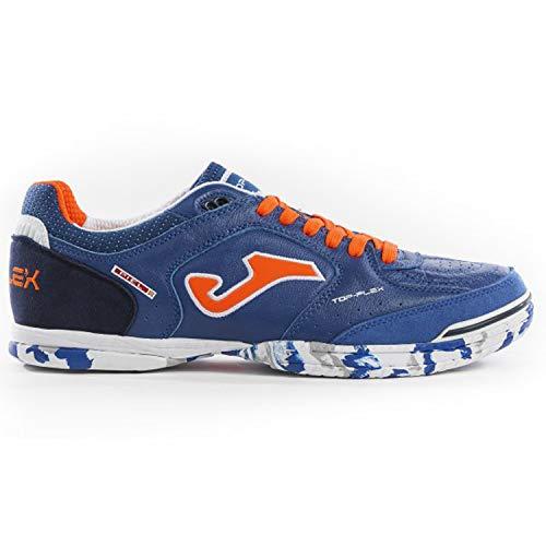 Joma Fußball-Schuhe Top Flex 905 Blue Flach Coral Calcetto Scarpa, Tops_905_IN_39, Azzurro-Corallo Fluo, 6