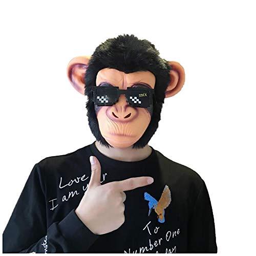 L Big Boss Halloween Orang-Utan Kopfbedeckung Tier Bar Maske Freie Größe niedlich Haustier Rollenspiel Sonnenbrille