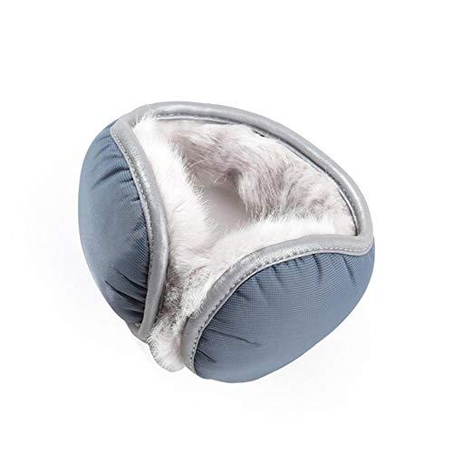 SXCYU Unisex-Ohrenschützer Winter-Ohrenschützer Herren- und Damen-Kopfschützer, warm, grau-blau