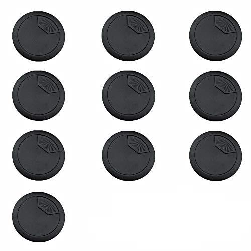 10 Stücke Kabel Loch Abdeckung, Kabel Loch Durchführung, Kabelloch Schreibtisch 60 mm, für Computertisch Kabel Fertig stellen, Schreibtisch
