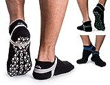 Muezna Men's Non-Slip Yoga Socks,...