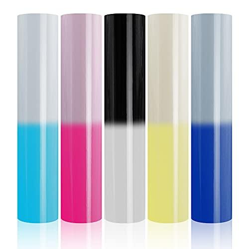 Color Changing Vinyl for Cricut Adhesive Permanent Vinyl Sheets for Cricut...