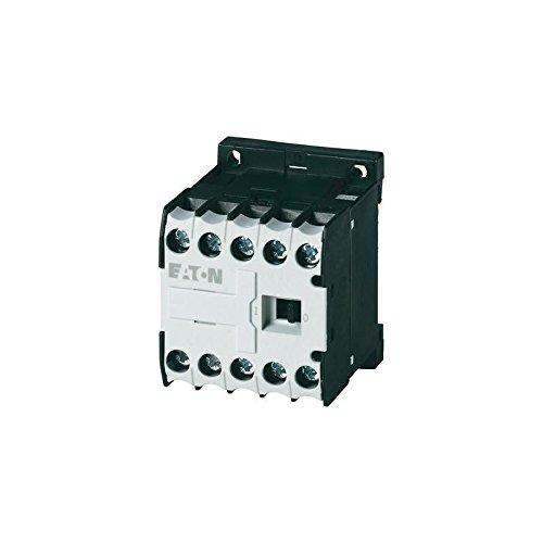 Eaton DILEM-10(230V50HZ,240V60HZ) Mini Contactor de Potencia, 3 Polos con 1 NO, 4 kW/400 V/AC3, 230 V 50 Hz, 240 V 60 Hz