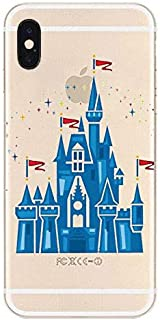 iPhone, Designer Choice Collection Colorful Flexible Ultra Slim Transparent Translucent iPhone Case Cover - Fairy Princess Dream Castle (iPhone XR)