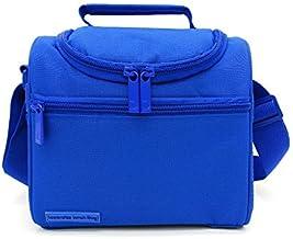 Leyendas Bolsa Térmica Porta Alimentos Comida Almuerzo Oferta Color Liso o con Dibujo 6 litros (Azul)