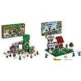 Lego 21155 Minecraft LaMinadelCreeper, Juguete De Construcción para Niño+Lego 21161 Minecraft CajaModular3.0, Juguete De Construcción, Castillo Fortaleza Granja Set con Figuras De Steve=