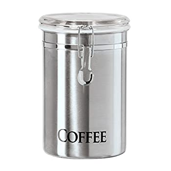 Oggi Coffee Canister 5  x 7.75  Stainless Steel