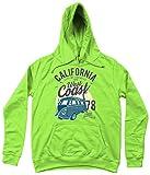 California West Coast v2 – AWDIS Girlie College Hoodie Lime Green Medium