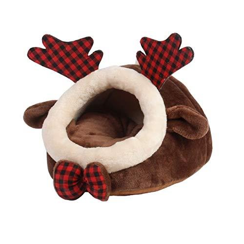 FSHB Warm Cute Meerschweinchen Bett Igel Ratte Chinchillas & Kleintiere Tiere Bett/Würfel/Hausnest Kleine Haustierversorgung, Dunkelbraun, L.