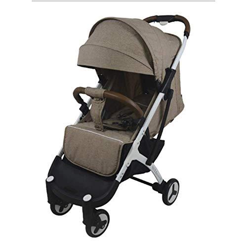 cochecito de bebé IF.HLMF, cochecito compacto de alta visión, ligero con un solo clic plegable de cuatro ruedas puede sentarse y acostarse.