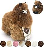 Inkari Alpaka Kuscheltier aus Alpaka Wolle, süßes Geschenk, Farbe Caramel