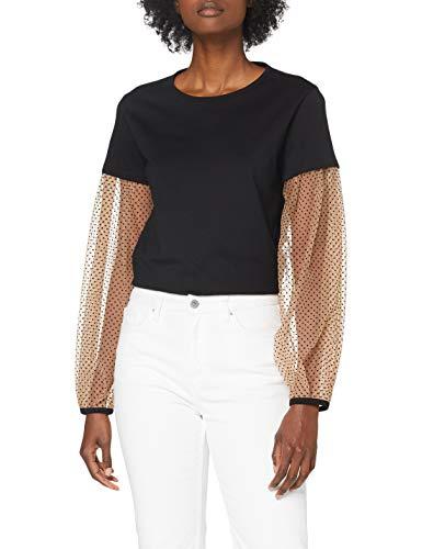 Sisley T-Shirt L/S, Nero 100, L Donna